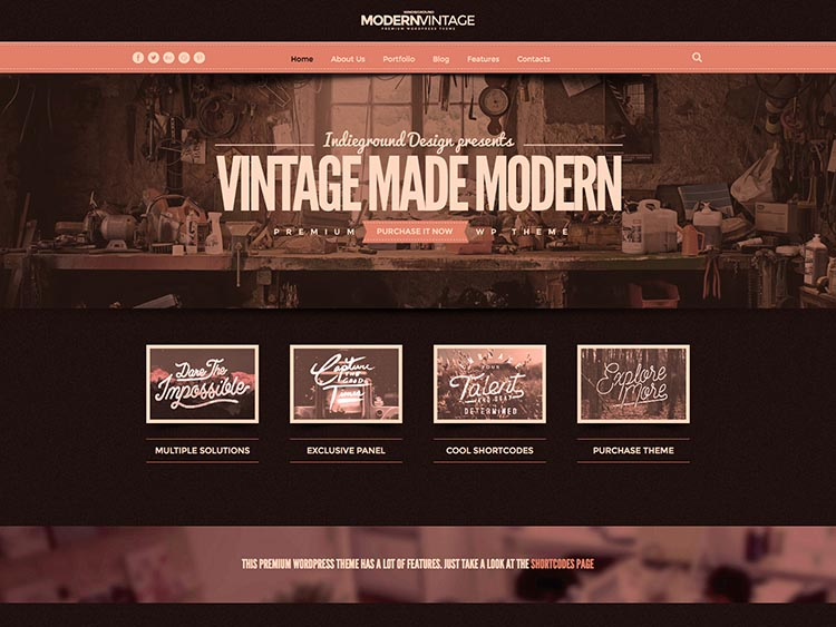 11+ Best Retro & Vintage WordPress Themes for 2018 - Siteturner