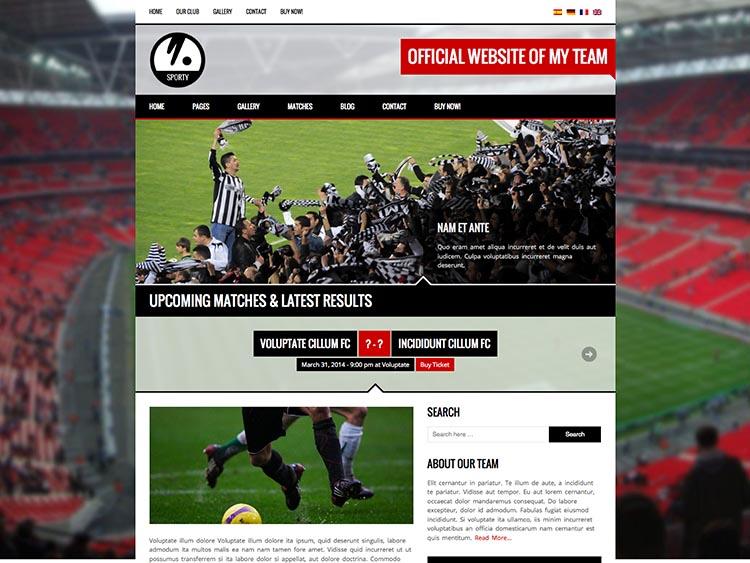 Sporty Theme for WordPress