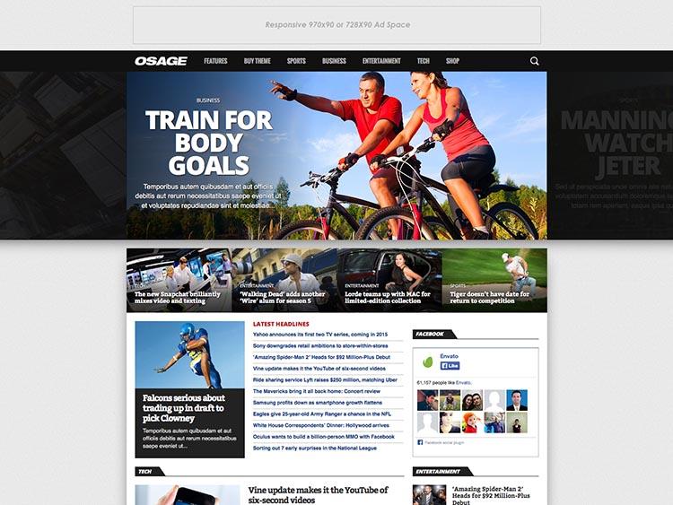 Oasage WordPress Sports Magazine Theme