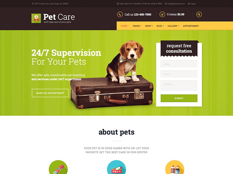 Petcare WordPress Pet care theme