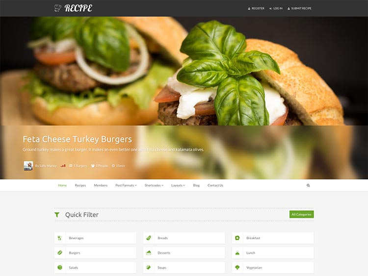 Recipe Theme for WordPress