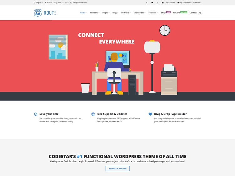 Route Corporate Theme for WordPress