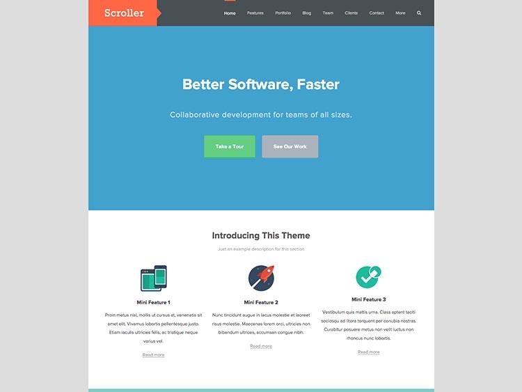 Scroller Corporate WordPress Theme