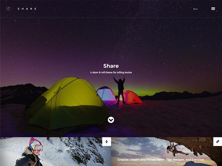 Share WordPress Travel Blog Theme
