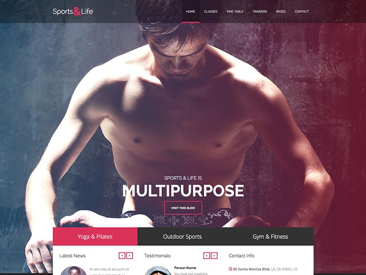 Sports & Life Theme for WordPress