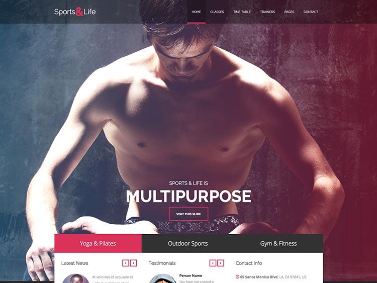 Sports & Life Theme for WordPress
