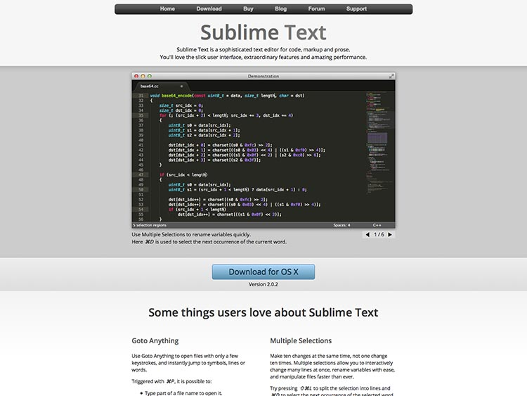 Sublime Text Screenshot