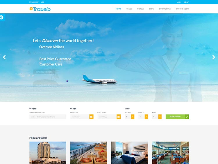Travelo Travel Booking Theme for WordPress
