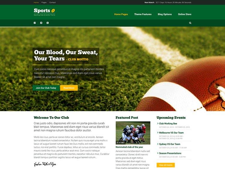 Sport Theme for WordPress