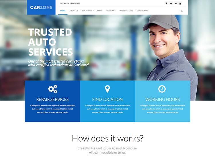 Carzone Mechanic Theme for WordPress