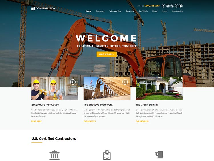 Construction Theme for WordPress