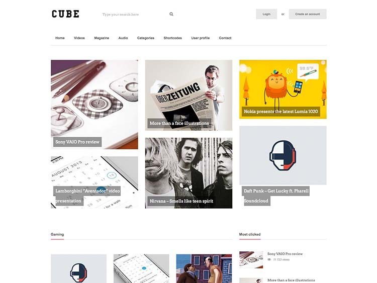 Cube WordPress Content Sharing Theme with Front-end Submissions