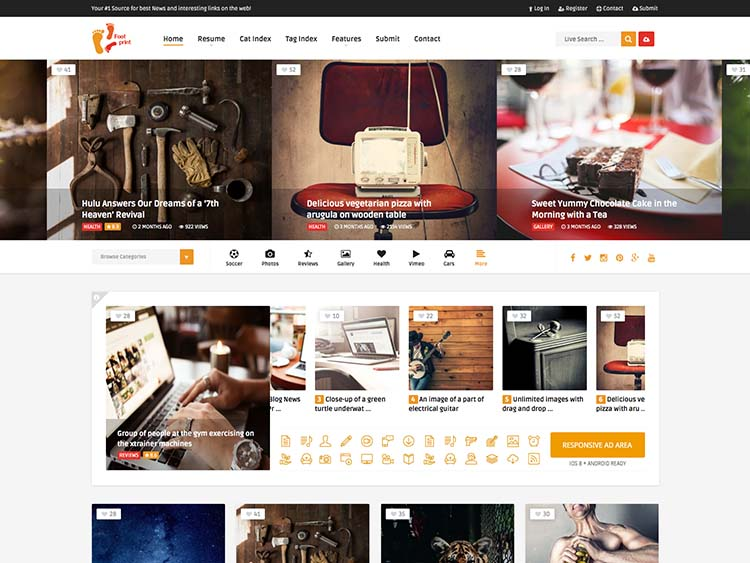 Best WordPress Content Sharing Theme like Pinterest, I guess, or something