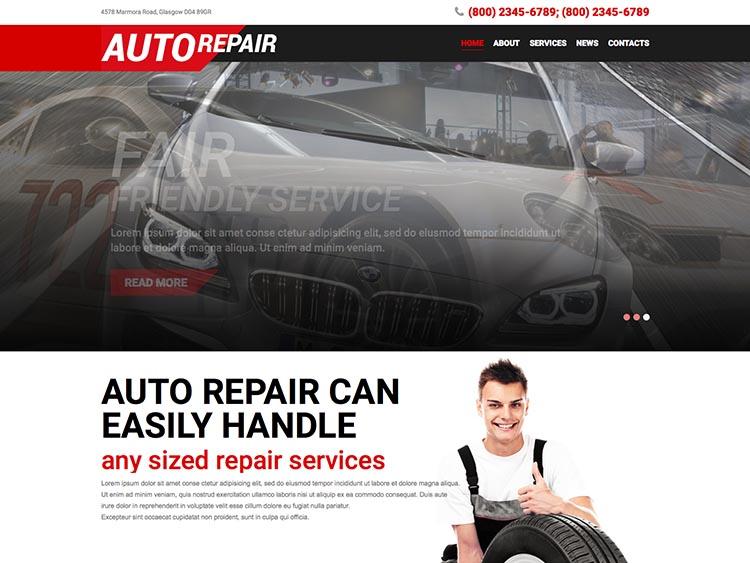 Auto Repair WordPress Mechanic Theme