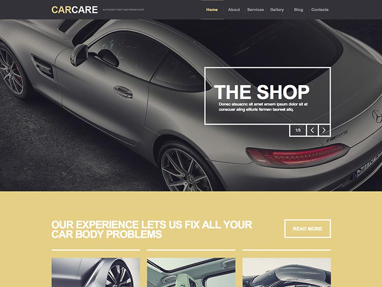Car Care WordPress Theme for Garages and Mechanics