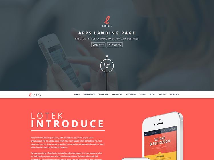 Lotek Landing Page Theme for WordPress