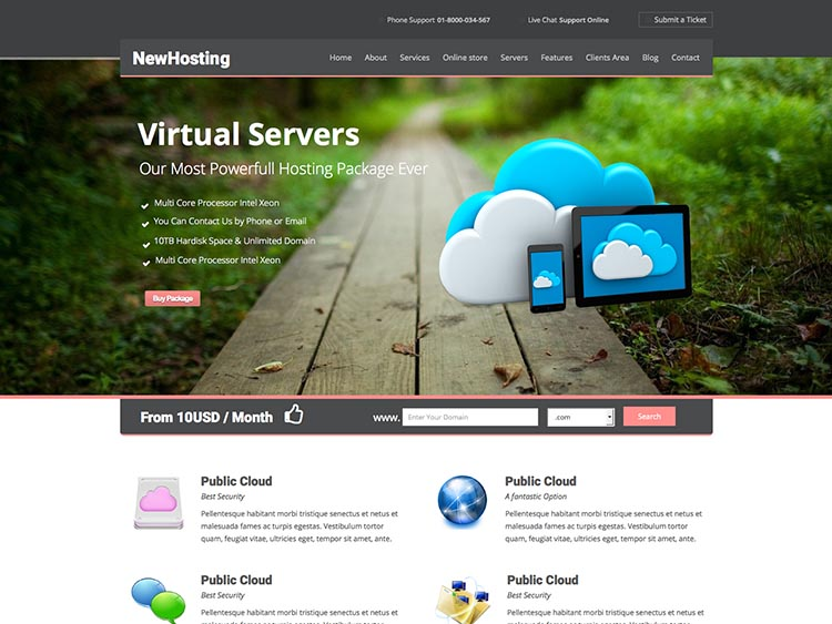 NewHost Theme for WordPress