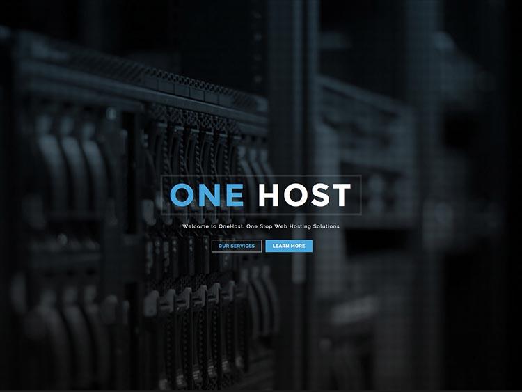 OneHost WordPress Hosting Theme
