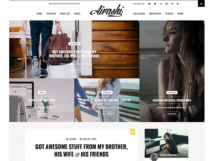Airashi Style Magazine Theme for WordPress