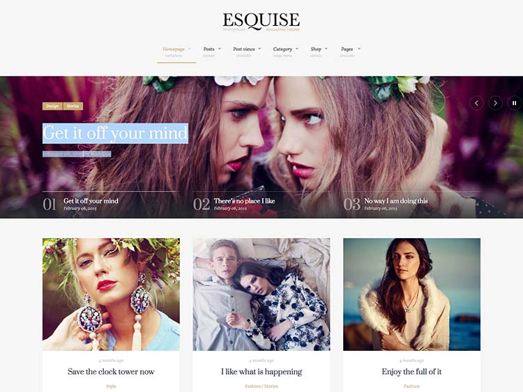 Esquise Fashion Magazine Theme