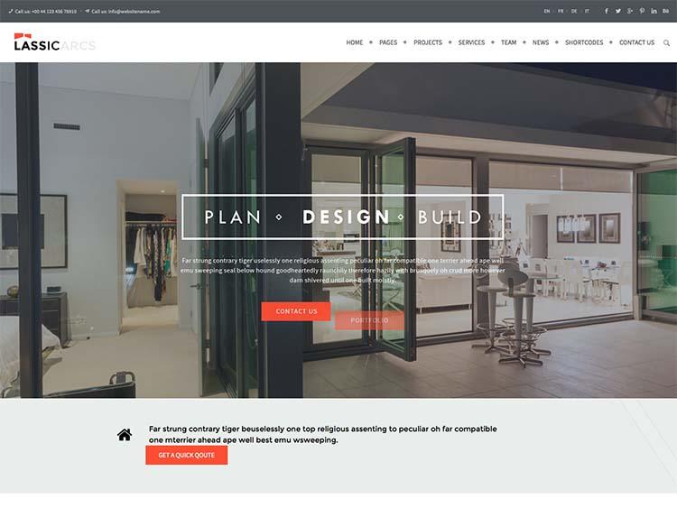 Lassic Architecture Theme for WordPress