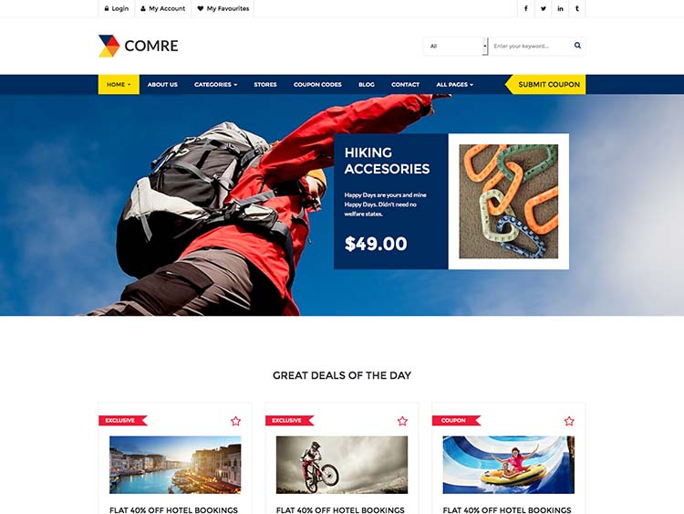 Comre Coupon theme for WordPress