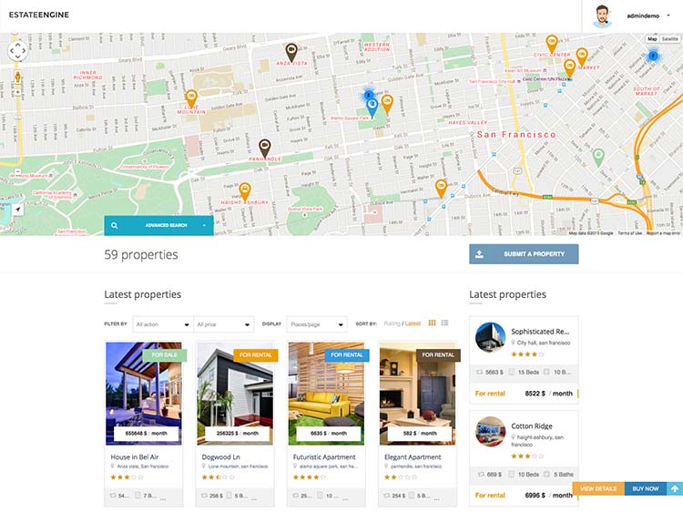 The Best Real Estate theme for WordPress