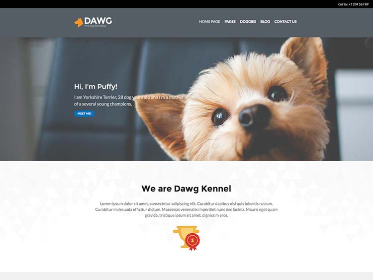DAWG Dog Breeder Theme