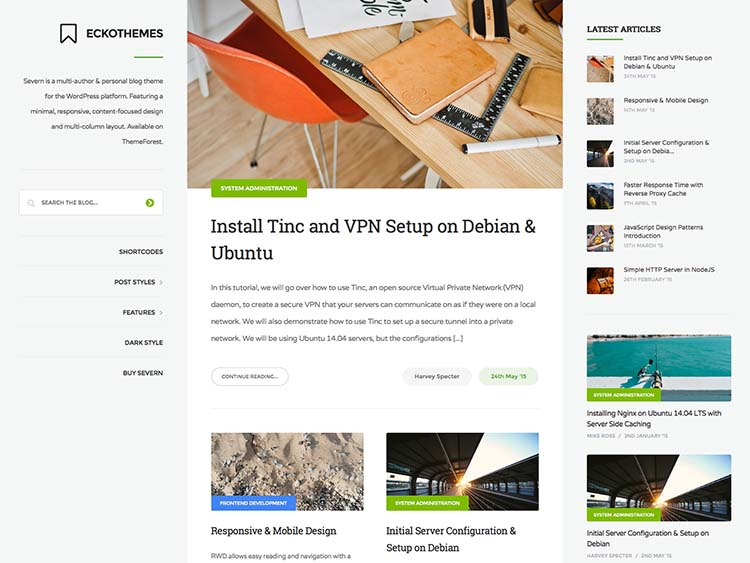 Our current favorite blog theme for WordPress