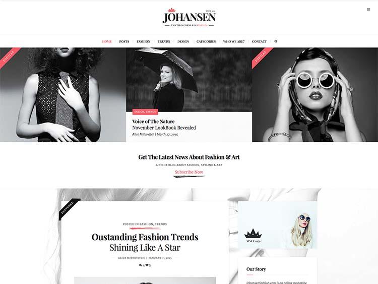Johansen Fashion Theme for WordPress