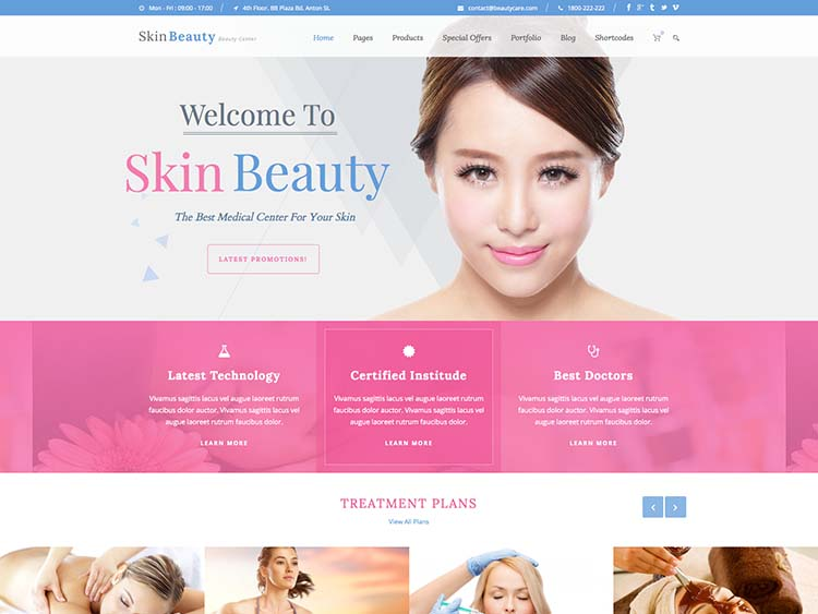 Best salon and beauty parlour theme for WordPress