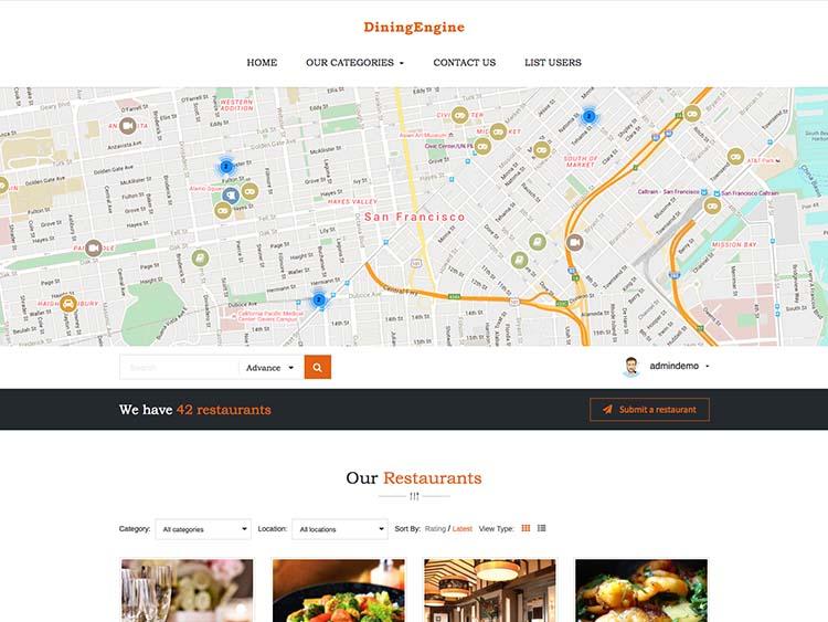DiningEngine Directory Theme
