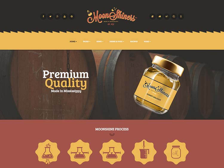 Best Brewery theme for WordPress - MoonShiners