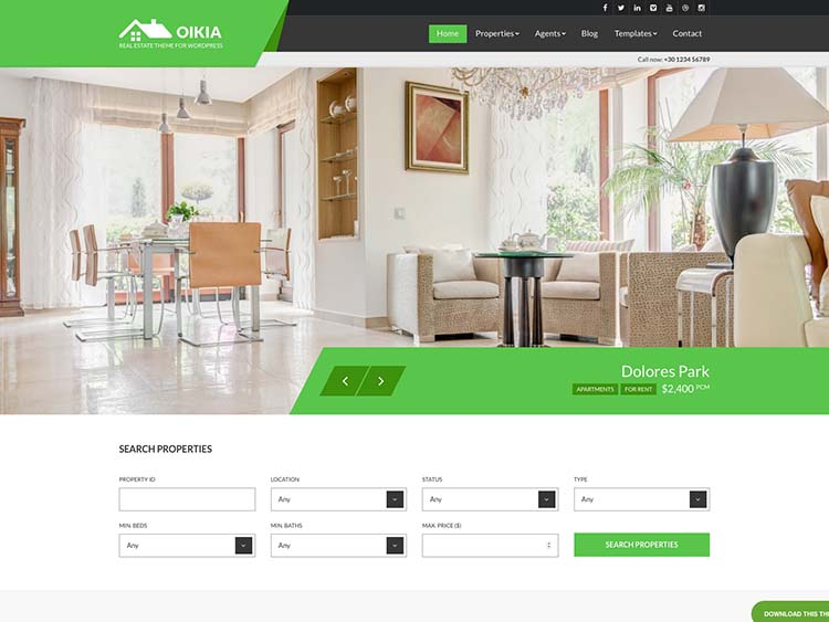 Best real estate & property management theme for WordPress