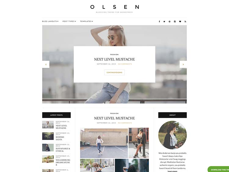 Olsen Lifestyle & Fashiob Magazine Theme for WordPress
