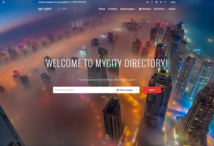 Best responsive WordPress Business Directory Theme