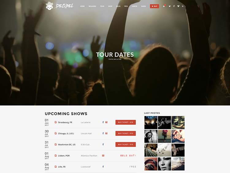 Best WordPress Theme for Bands