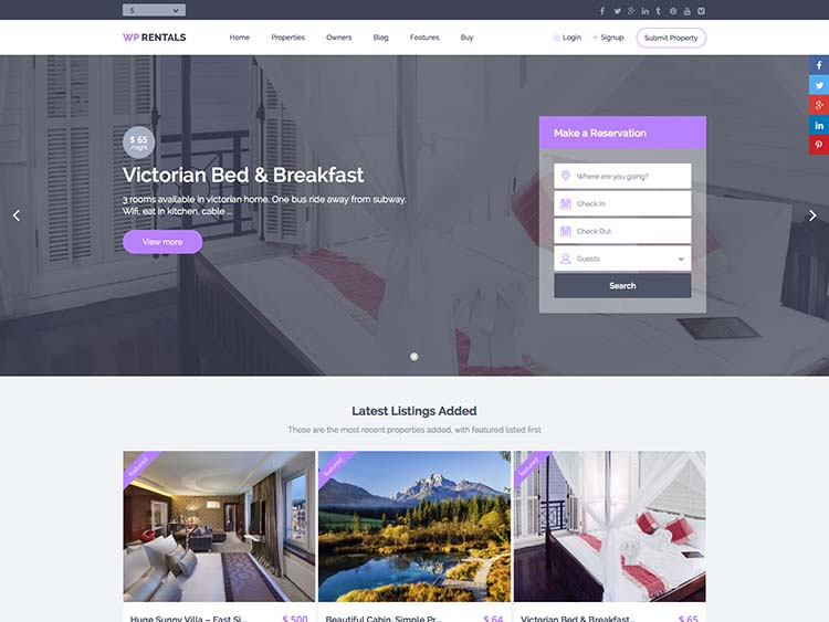 18+ Best Wordpress Property Management Themes 2018 - Siteturner
