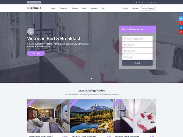 WP Rental Best WordPress Real Estate Theme