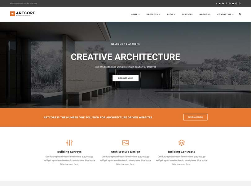 11 best wordpress themes for architects and architecture for Best architecture firm websites