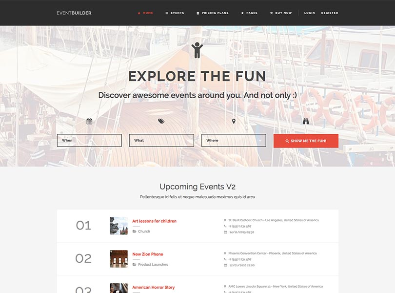 Our fave WordPress events theme