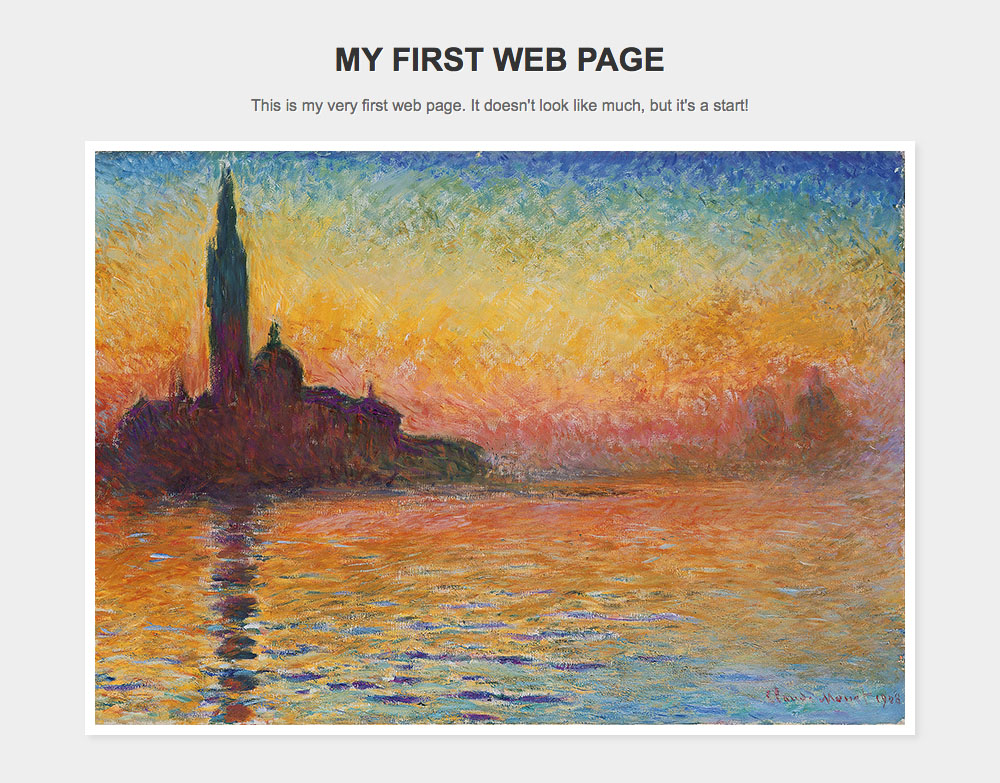 My First Web Page Example