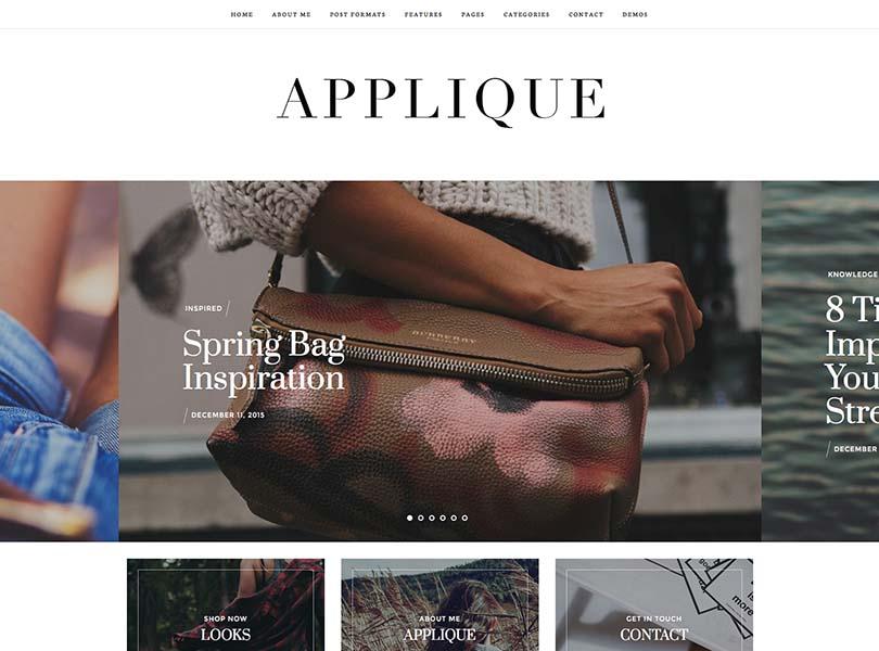 Applique Fashion Blog Theme