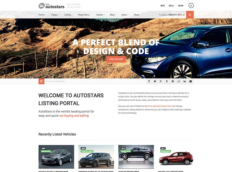 The best car dealership and auto marketplace listing Theme