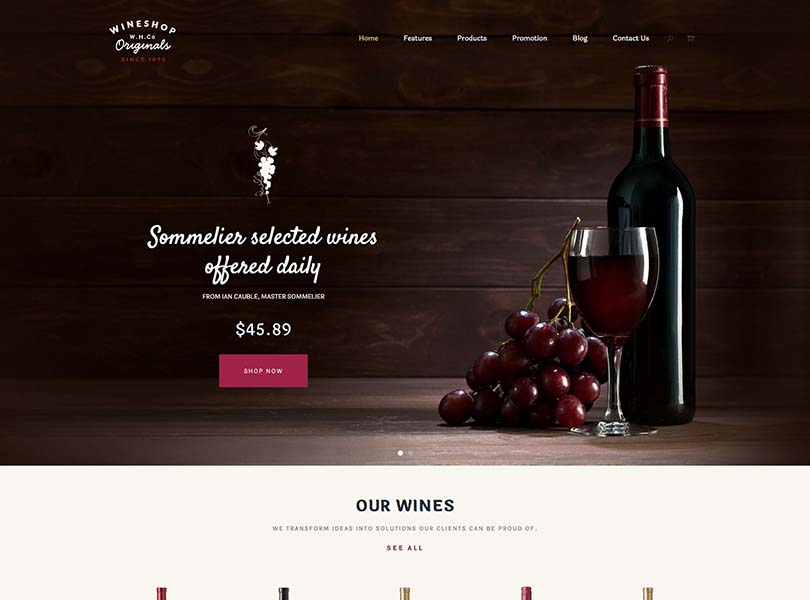 WineShop Winery Theme for WordPress