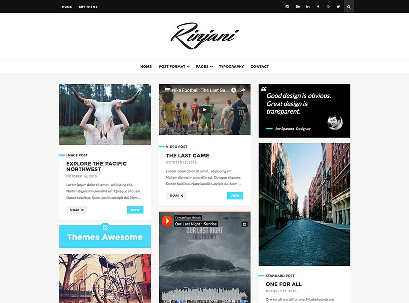 A cool, great-looking grid theme for WordPress