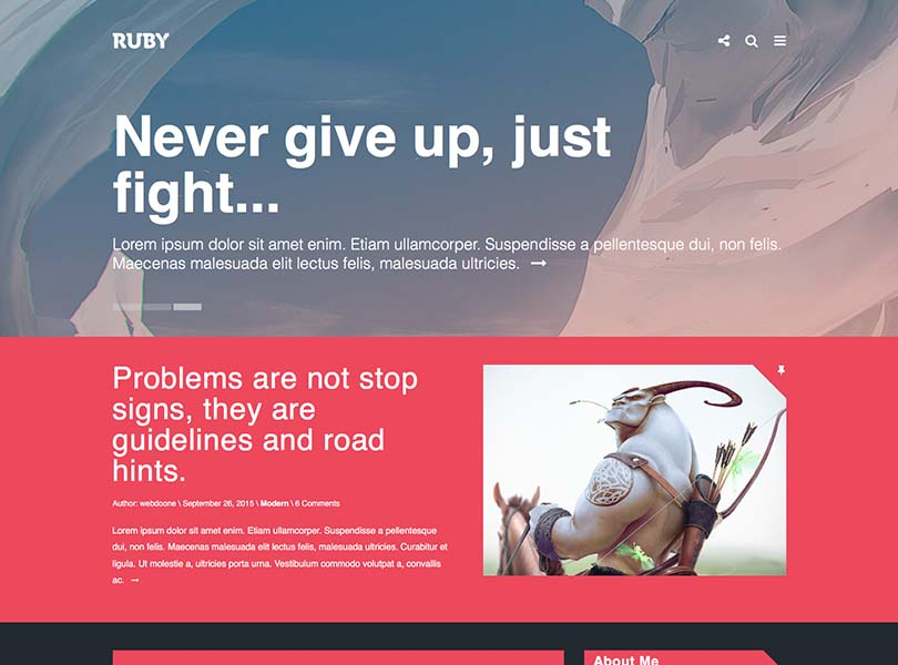 Ruby Blog Theme for WordPress
