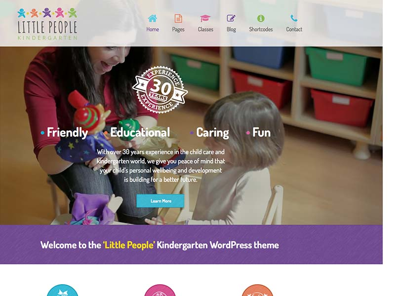 A responsive preschool theme for WordPress