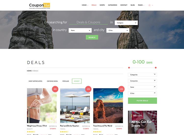CouponHut theme for WordPress