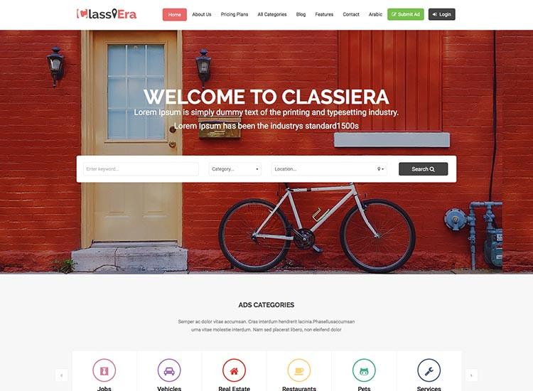 Classiera Classifieds theme for WordPress